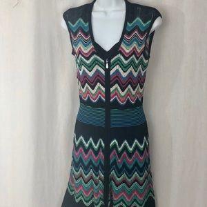 Laundry by Shelli Segal colorful chevron dress XS
